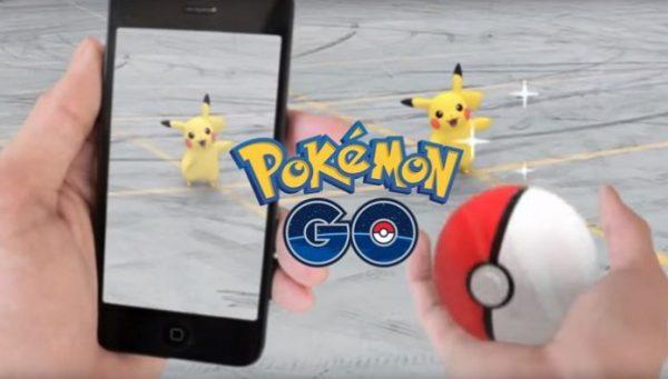 Пример игры Pokemon go