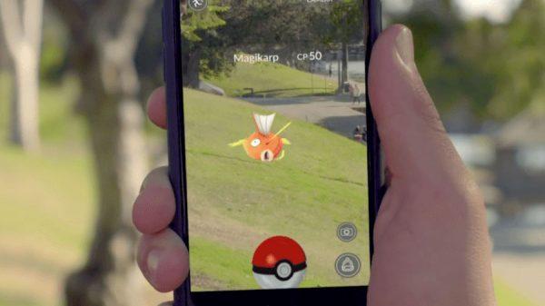 Ловим покемона в игре Pokemon Go