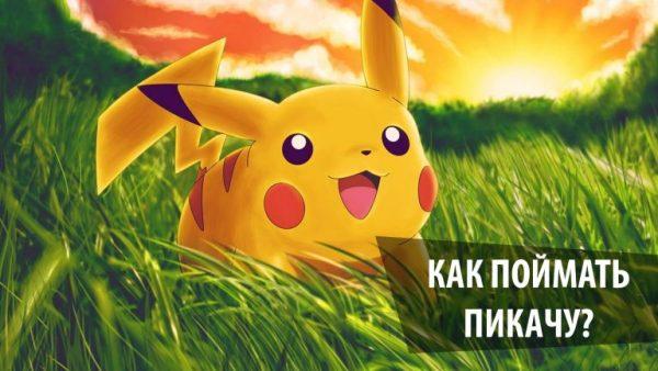 Покемон Пикачу из игры Pokemon Go