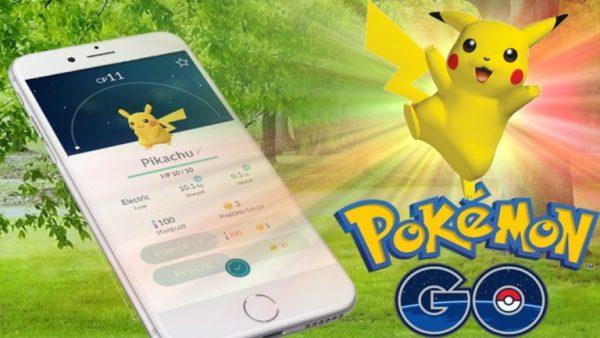 Пример Пикачу в игре Pokemon Go