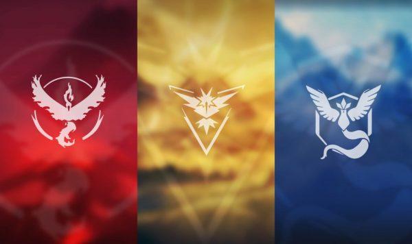 Три команды игры Pokemon Go