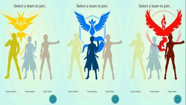 Команды для присоединения в Pokemon Go