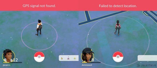 Визуальное отображение ошибки GPS