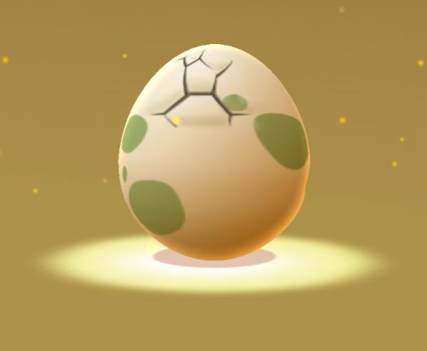Пример яйца покемона в игре