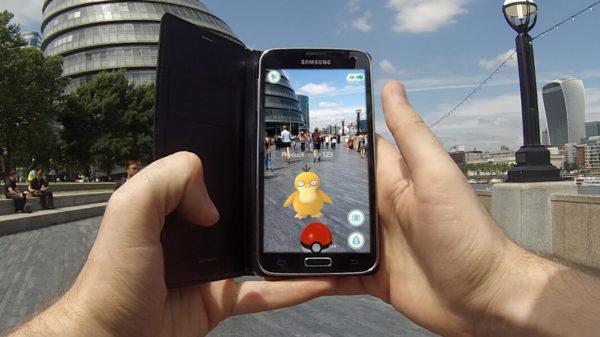 Пример геймплея игры Pokemon Go