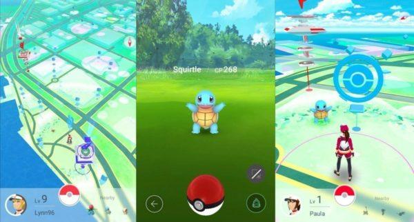 Пример скриншотов из игры Pokemon Go